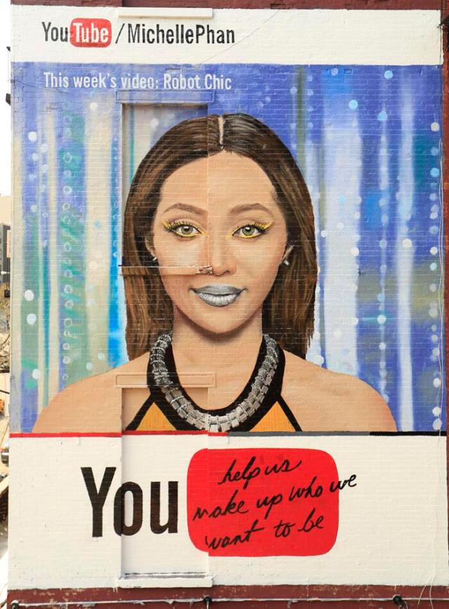 "Michelle Phan ""Robot Chic"" YouTube Billboard, NYC"